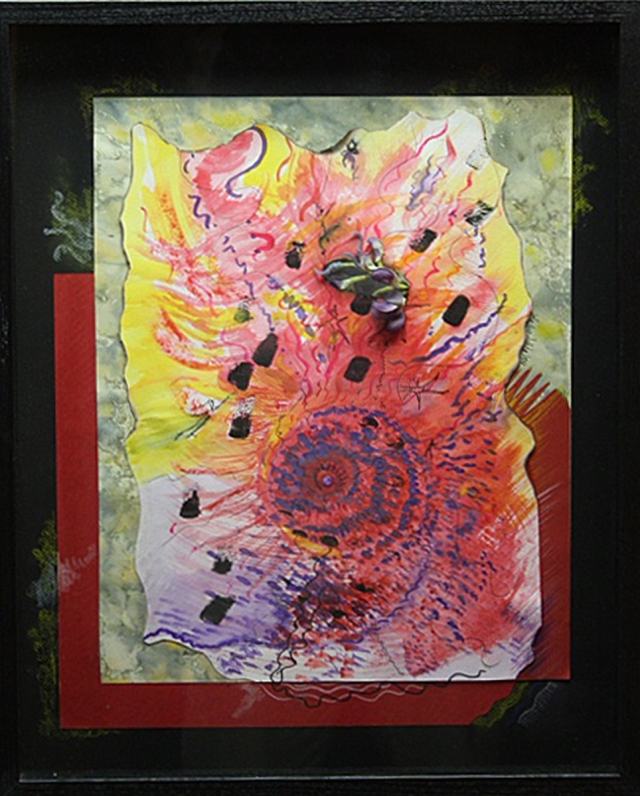 Healing the Child Within-A mixed media on paper by Lidia Kenig Scher-2009