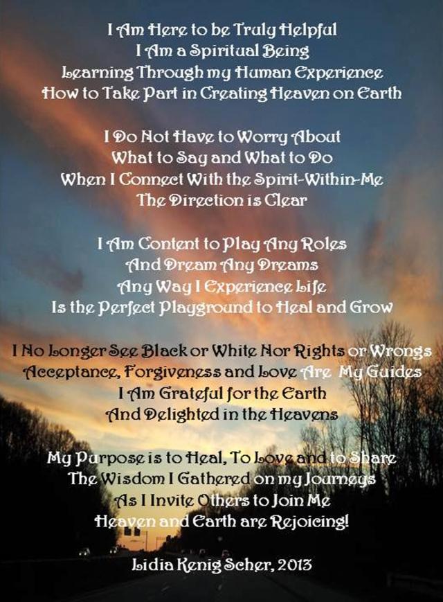 My Manifesto By Lidia Kenig Scher